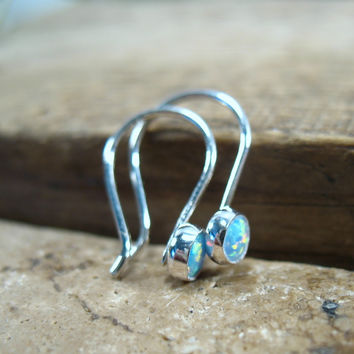 Silver Delicates Earrings with 26 Fire Opal