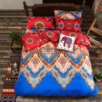 Bohemia bedding sets duvet cover set for winter 3/4pcs bedsheet Pillowcase set twin full queen king size luxury Bedlinen