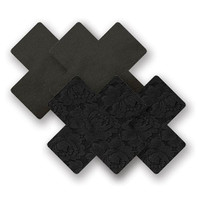 Nippies® Basic Black Lace Cross Pasties Basic Black Black A-DD