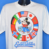 80s Epcot Center Walt Disney World Mickey Mouse Passport t-shirt Large