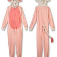 Pink Elephant Womens 1PC Footie Onesuit Pajamas