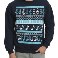 Music Fair Isle Crewneck Sweatshirt 2XL