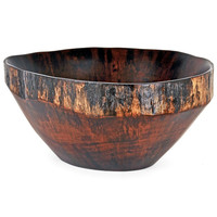 Rustic Obeche Wood Reunion Salad Bowl