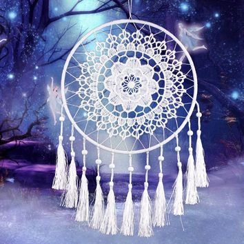 Lace Flower Dreamcatcher Wind Chimes Indian Style Feather Pendant Dream Catcher Creative Car Hanging Decoration For Home
