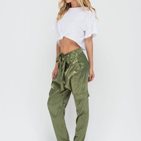 Silk Trade Surplice Cargo Pants