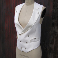 White Wedding Suit---A Women's Vest and Pant