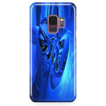Abstract 3D Blue Samsung Galaxy S9 Plus Case | Casefantasy