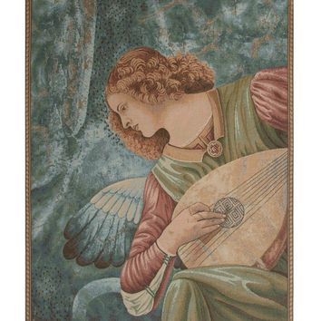Ange au Luth Angel Tapestry Wall Art Hanging
