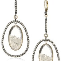 "Moritz Glik ""Kaleidoscope"" 18K Gold and Floating Diamond Dangle Earrings"