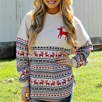 Hoodies Winter Christmas Deer Bottoming Shirt [9600182671]