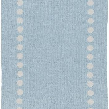 Surya Abigail ABI9075 Blue/Neutral Solids and Borders Area Rug