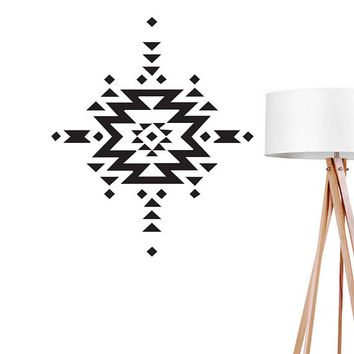 Aztec Shapes Wall Decal, Ethnic Sticker, Office Decor, Aztec Decal, Scandinavian Decor, Abstract Wall Decal, Boho Desert, Tribal Art Decal