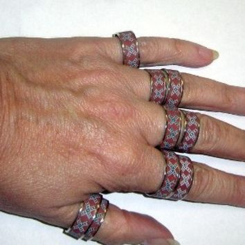 Confederate flag band ring
