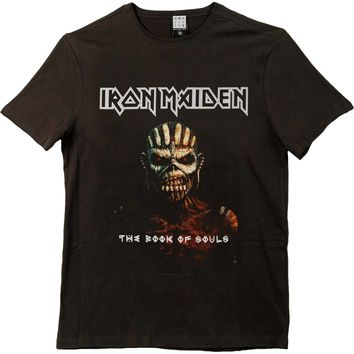 Iron Maiden Men's  Book Of Souls Slim Fit T-shirt Black