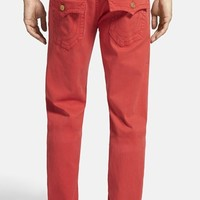 Men's True Religion 'Geno' Overdyed Straight Leg Jeans (True Red)