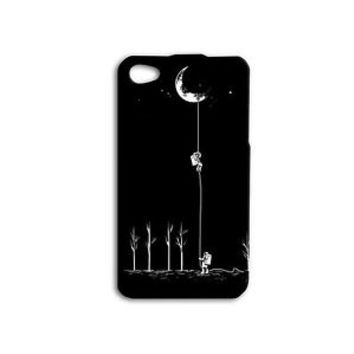 Astronaut Moon Climb Cute Funny Phone Case iPhone 4 4s 5 5c 5s 6 6s Plus Custom