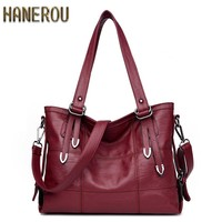 New 2018 Fashion PU Leather Women Messenger Bags Ladies Big Casual Shoulder Bags Brand Woman Handbags Bolsa Feminina Preta Sac