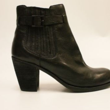 Dolce Vita Jamala Women's Black Leather Fashion Ankle Boots 10 M