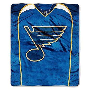 St Louis Blues 50x60 NHL Jersey Design Royal Plush Raschel Throw