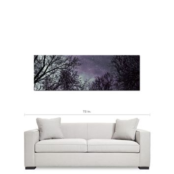 Purple Trees Canvas - Gothic Home Decor - Black and Purple - Gothic Canvas - Large Canvas - 20 x 60 Canvas - Panoramic Canvas - Home decor