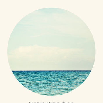 Salt Water Cure Art Print by Tina Crespo | Society6