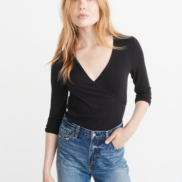 Womens Wrap Front Top | Womens Clearance | Abercrombie.com
