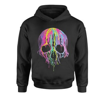 Neon Dripping Skull Youth-Sized Hoodie