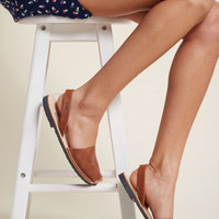 Force to Be Beckoned With Leather Sandal in Brown