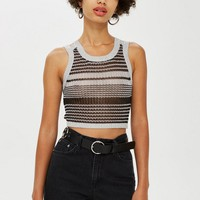 Metallic Tank Top - Sweaters & Knits - Clothing
