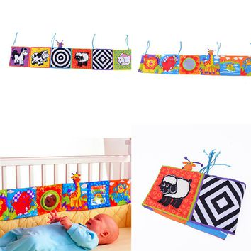 Baby Toys Baby Cloth Book Knowledge Around Multi-touch Multifunction Fun And Colorful Bed Bumper