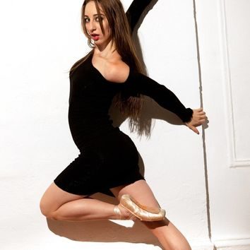 Dance Class Warm-Up Dress / Sexy Sweater Dress