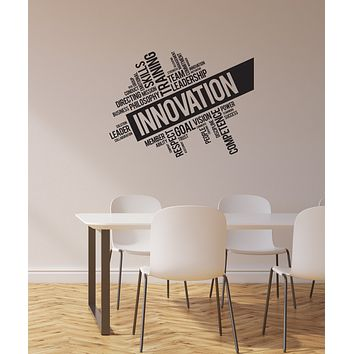 Vinyl Wall Decal Innovation Team Success Office Inspirational Words Interior Stickers Mural (ig5977)