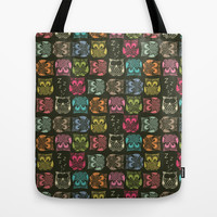 sherbet owls Tote Bag by Sharon Turner