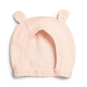LMFMS9 Stella McCartney Baby Cashmere-Blend Bunny Hat