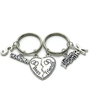 Gramma And  Grand Daughter Keychains, Best Friends  Keychains,  Keychain For Grandma, Keychain For Grand Daughter, Personalized