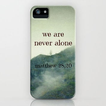 We Are Never Alone iPhone Case by Shawn Terry King | Society6