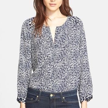 Women's Joie 'Purine C' Mixed Print Silk Blouse,
