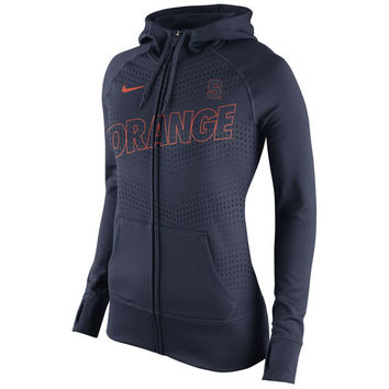 Syracuse Orange Nike Women's Stadium Game Day KO Full Zip Therma-FIT Hoodie - Navy