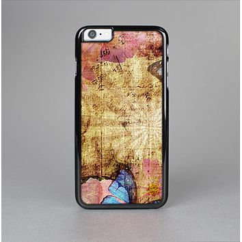 The Vintage Blue Butterfly Background Skin-Sert for the Apple iPhone 6 Skin-Sert Case