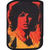 Doors Men's Jim Morrison 1 Screen Printed Patch Black