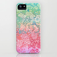 Soft Pastel Rainbow Doodle iPhone & iPod Case by micklyn
