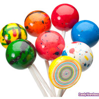 Paintball Giant Jawbreaker Pops: 24-Piece Box | CandyWarehouse.com Online Candy Store