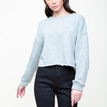 Crew Cut Crop Sweatshirt