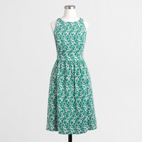Factory printed cutaway dress