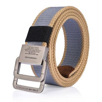 Men's High Quality Military Equipment Belt For mens Army Nylon Belts Patriotic Retired Soldiers Canvas Strap