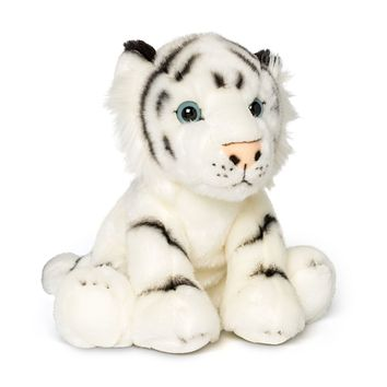 12 Inch Stuffed White Tiger Plush Floppy Animal Kingdom Collection