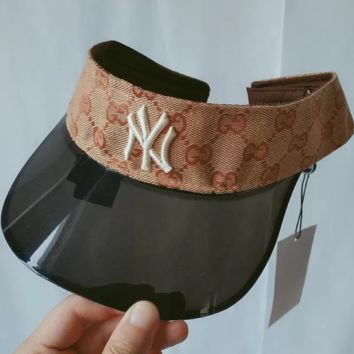 New York Yankees x Gucci Women Men Sport Sunhat Embroidery Baseball Cap Hat
