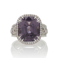 One-Of-A-Kind Cushion Purple Spinel Ring | Moda Operandi