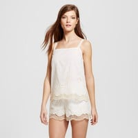 Women's Embroidered Woven Pajama Tank - Gilligan & O'Malley™