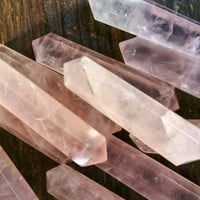 Rose Quartz Crystal Double Terminated Point ~ Perfect for Jewelry Making, Crystal Healing, Reiki, Energy Balancing, and Crystal Grids ~ SP17